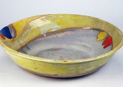 Bowl with Yellow, Red And Blue