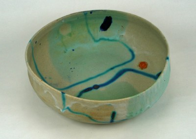 Large Blue Line Bowl